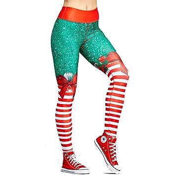 Amazon Com Christmas Leggings Christmas Yoga Pants Women