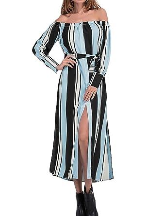 Kleid blau mit seitenstreifen