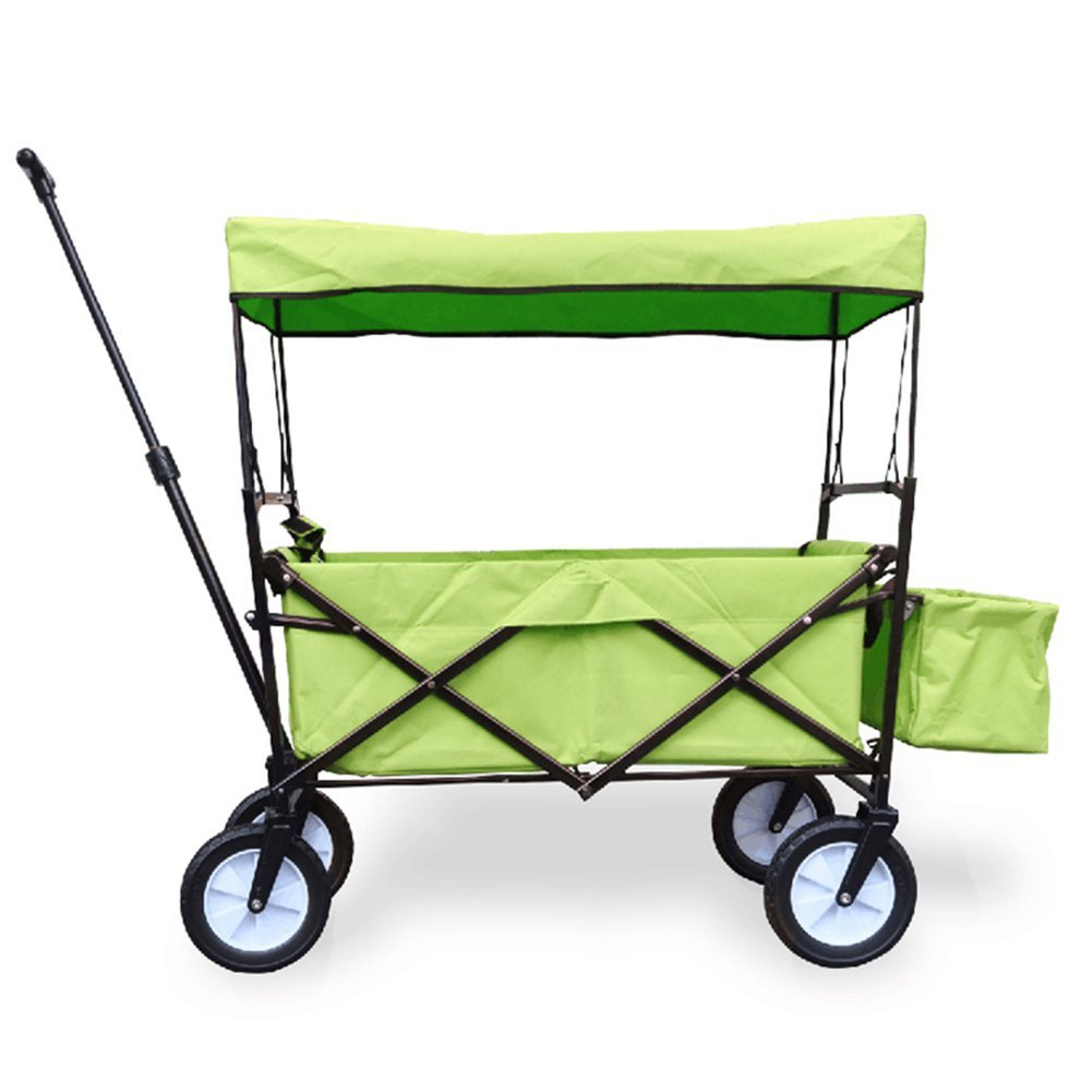 キャリーカートアウトドアワゴンカバーされた テールボックス 取り外し可能で洗える オックスフォード布 多機能 折りたたみ可能 スチールパイプ、 7色 (色 : Green, サイズ さいず : 85 x 50 x 28cm) B07G14VP5T 85 x 50 x 28cm|Green Green 85 x 50 x 28cm