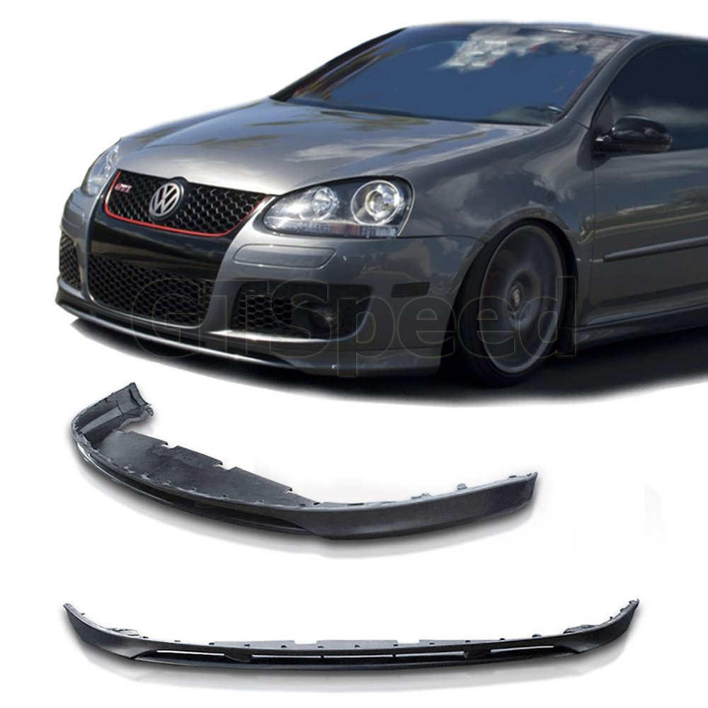 Made for 06-09 Volkswagen Golf GTI Jetta (MK5 Model Only) V Style Front PU Bumper Add on Lip