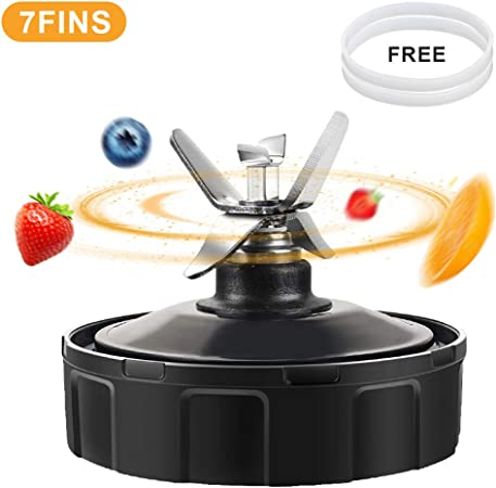 Ninja Blender Replacement Blade, Replacement Blender Part, Ninja Blender Blade, for Nutri Ninja Pro & Auto, iQ Series, 7 Fins Extractor Blade Assembly ...