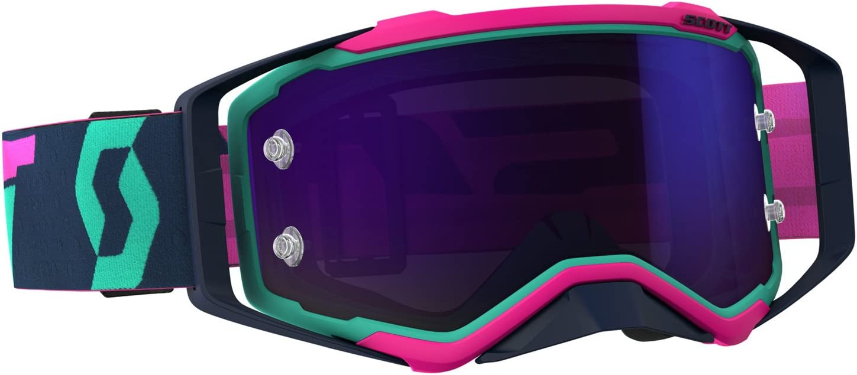Scott Prospect Mx Goggle Cross Mtb Brille TÃŒrkis Pink Lila Chrom Works Auto