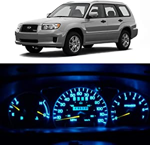 WLJH Ice Blue Instrument Panel Cluster Indicator Warning Light Full Led Dash Gauge Lights Kit for 2003-2008 Subaru Forester, Pack of 20