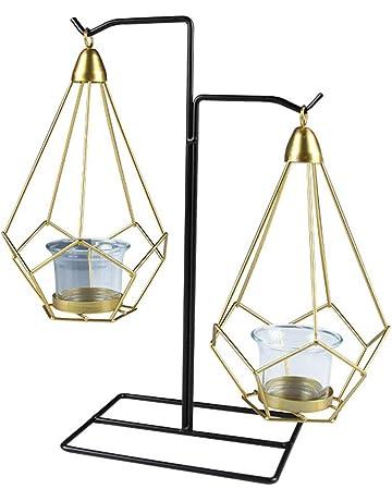 Xiton Geométrica candelabro Colgante de Escritorio del Metal del Oro 2 cavidad candelabro Boda decoración del