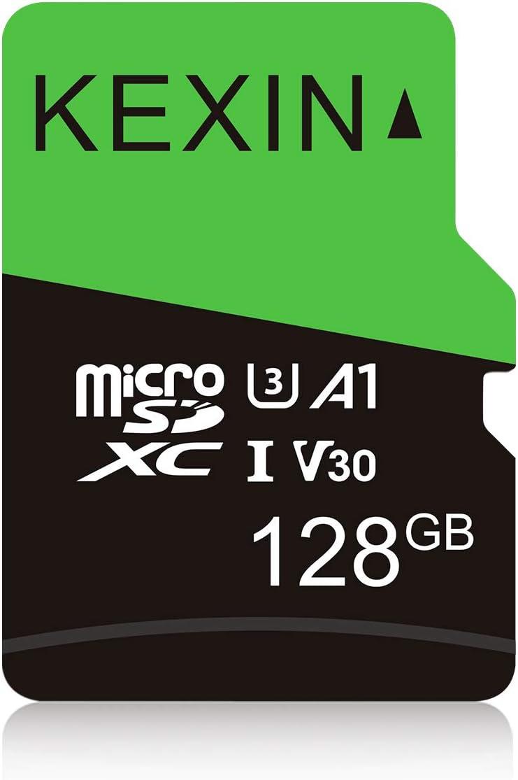 KEXIN 128GB Micro SD Card Class 10 Ultra MicroSDXC UHS-I Memory Card, C10, U3, V30, A1, 1 Pack Micro SD Card