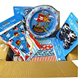Pirate Party Complete Party Package, Invites, Loot Bags, Loot, Tableware, Banners and Much More