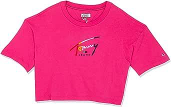 تومي جينز تي شيرت للنساء -  لون زهري -  مقاس XL