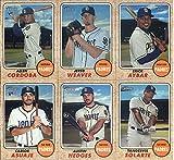 2017 Topps Heritage High Numbers San Diego Padres Team Set of 6 Cards: Carlos Asuaje(#520), Yangervis Solarte(#541), Austin Hedges(#543), Allen Cordoba(#569), Jered Weaver(#578), Erick Aybar(#600)