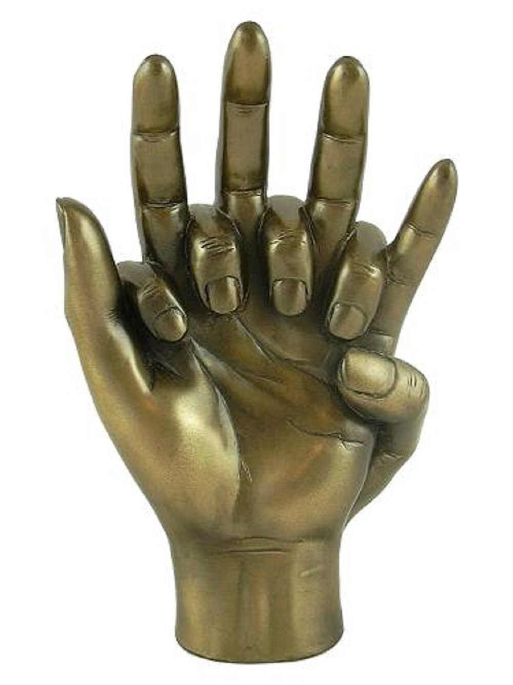 Lovers HANDS ENTWINED Bronzed Sculpture Engagement Wedding or Anniversary
