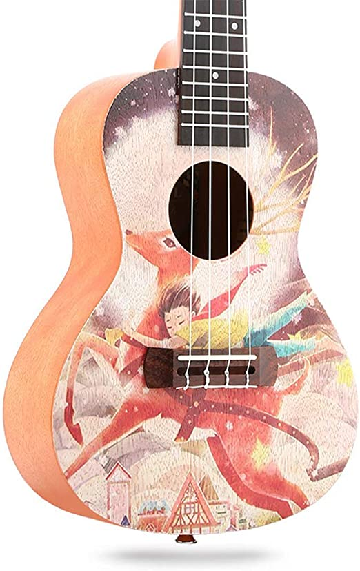 SanQing Ukulele de 23 Pulgadas, Guitarra Ukelele, Ukelele de ...
