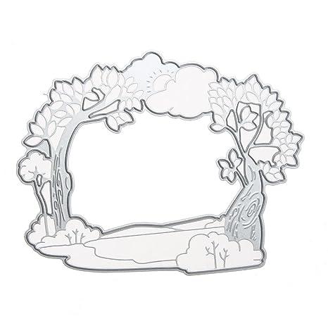 demiawaking plantillas para DIY Scrapbooking álbum marcapáginas corte del Die repujado Embossing Manual moldes Artesanal Decorativo