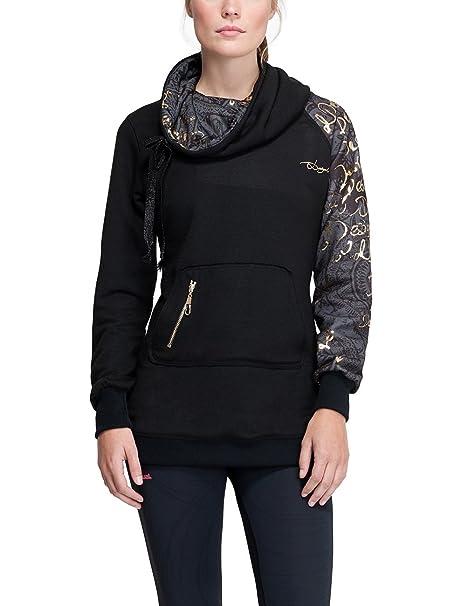 Desigual Mujer Woven Camiseta Sudadera para Hombre, otoño/Invierno, Mujer, Color Morado