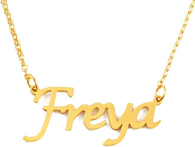 18ct Gold Plated Kigu Beth Custom Name Necklace Personalized