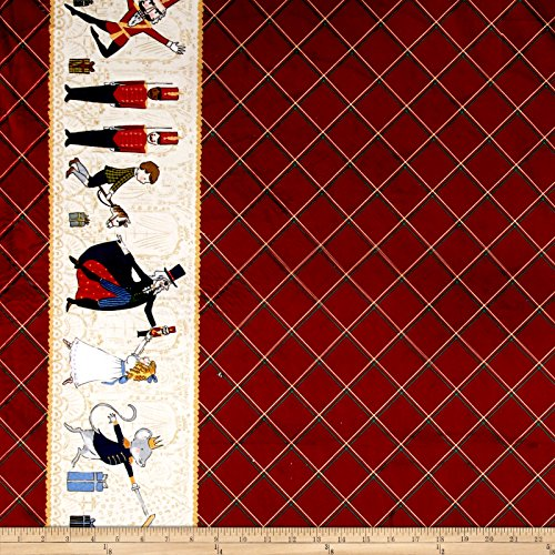 Michael Miller Minky Nutcracker Act Double Border Fabric by The Yard, ()