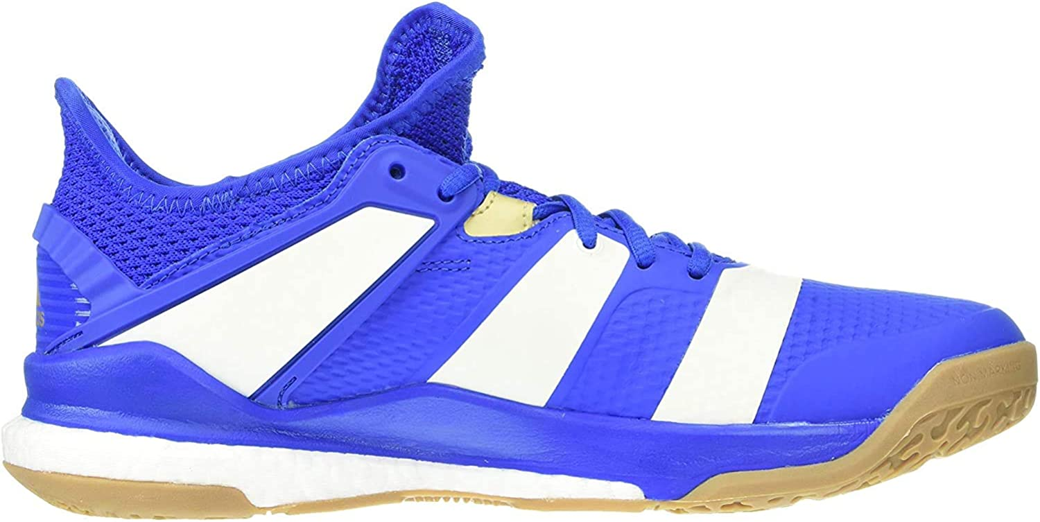 adidas stabil x court shoes blue-white