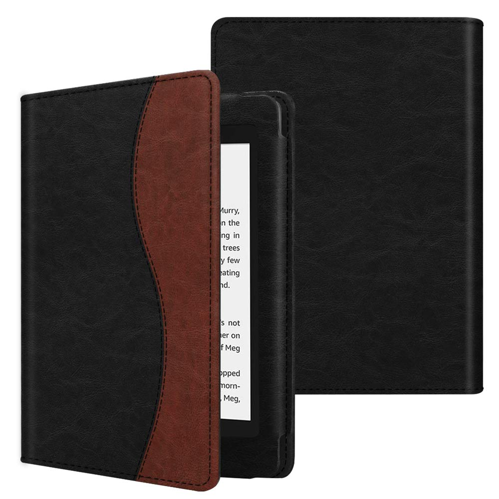 Fintie Folio Case for All-New Kindle Paperwhite (10th Generation, 2018 Release) - Book Style Premium Fabric Shockproof Cover with Auto Sleep/Wake for  Kindle Paperwhite E-Reader, Vintage Brown