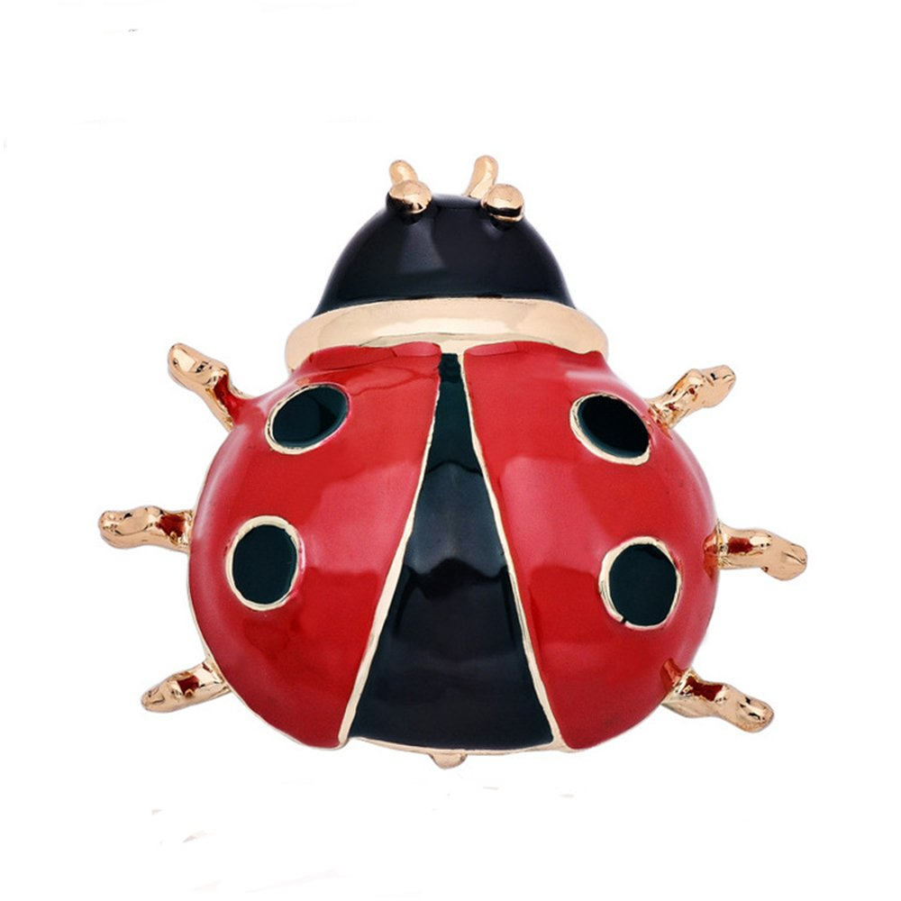 CHUYUN Lovely Red Enamel Ladybug Brooch Pin for Women/Men