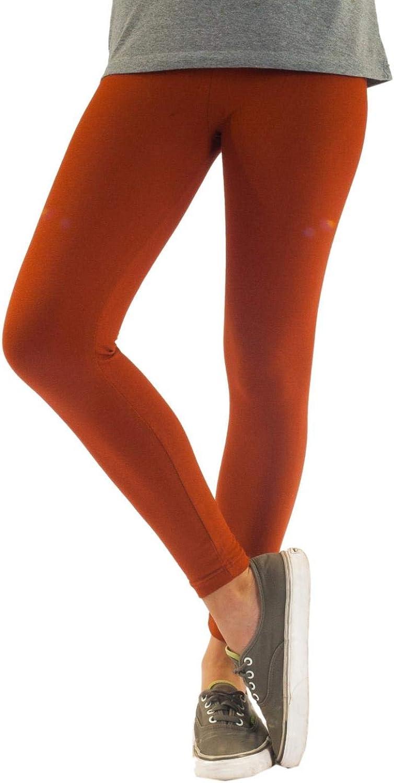Leggings Opaque en Coton Longueur Cheville Noir Blanc Gris Vert Rouge Jaune
