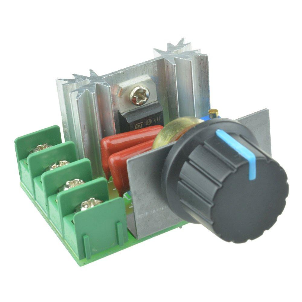 PWM AC Motor SCR Regulador de voltaje ajustable Control de velocidad Controlador Atenuación de atenuadores Termostato Módulo electrónico Tablero 220V 2000W: ...
