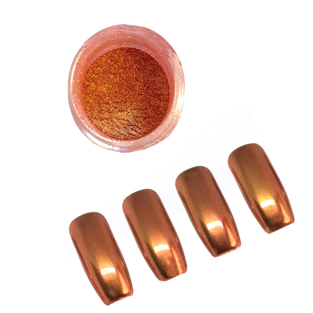 PrettyDiva Chrome Nail Powder Rose Gold Mirror Effect