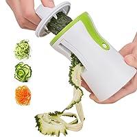Coquimbo Spiralizzatore per verdure, Affettatrice Spirale Vegetale Spiralizzatore Tagliaverdure da Cucina crea infinite tagliatelle per mangiare sano