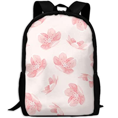 SZYYMM Cherry Blossoms Flower Oxford Cloth Casual Unique Backpack, Adjustable Shoulder Strap Storage Bag,Travel/Outdoor Sports/Camping/School For Women And Men