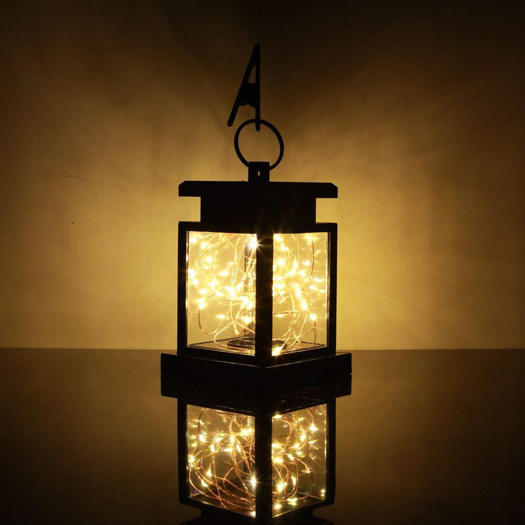 Tinpa Solar Lantern Lights Outdoor Fairy String Lights,Hanging lamp Copper Wire for Front Door, Yard, Garage, Deck, Porch, Shed, Walkway