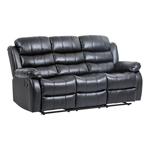 BestMassage Recliner Sofa Reclining Chair Modern sectional Furniture Three Seat for Living Room Classic