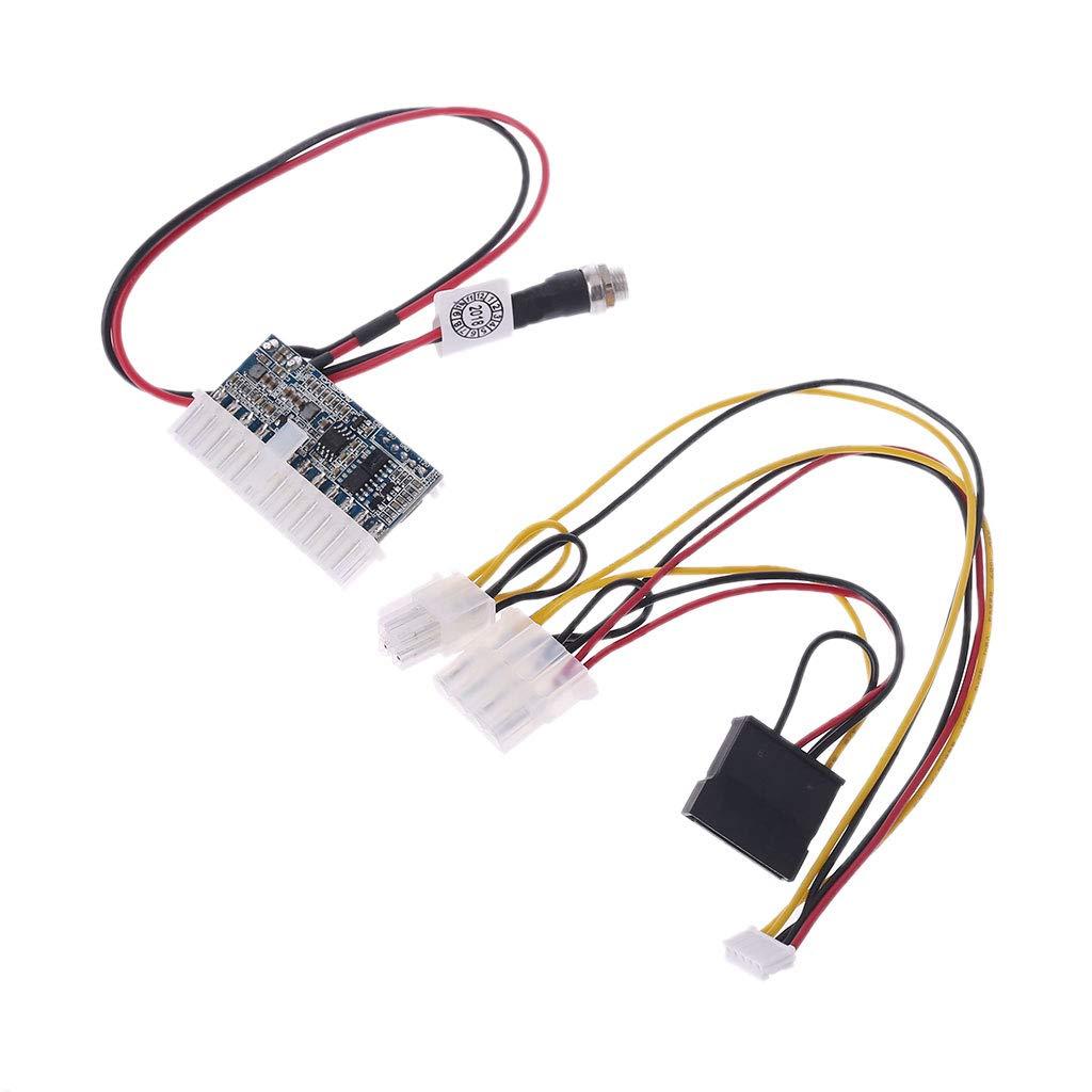 BIlinli 24Pin 160W DC 12V Pico ATX Switch PSU Car Auto Mini ITX M/ódulo de Fuente de alimentaci/ón Alta