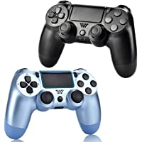 YU33 2 Pack Wireless Controller Compatible with PS4 - YU33 Remote Joystick Gamepad Compatible with Playstation 4 with…
