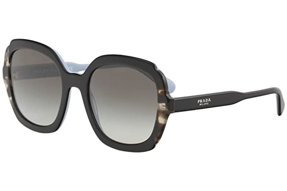 b4650a0f563 Prada PR 16US - KHR0A7 Sunglasses Black Azure Spotted Brown w  Grey  Gradient Lens