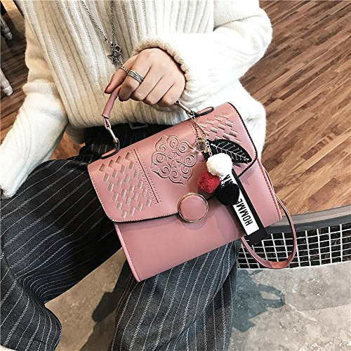 Aoligei Simple épaule sac croix diagonale simple broderie sac à main petit carré bracelet pendentif fashion B