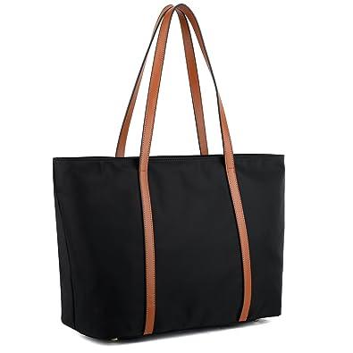 f65165a6cf0b YALUXE Women s Oxford Nylon Large Capacity Work Tote Shoulder Bag Black