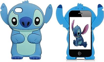 Nuovo Custodia Silicone Cover per Apple Iphone 5 5S Stitch LILO ...