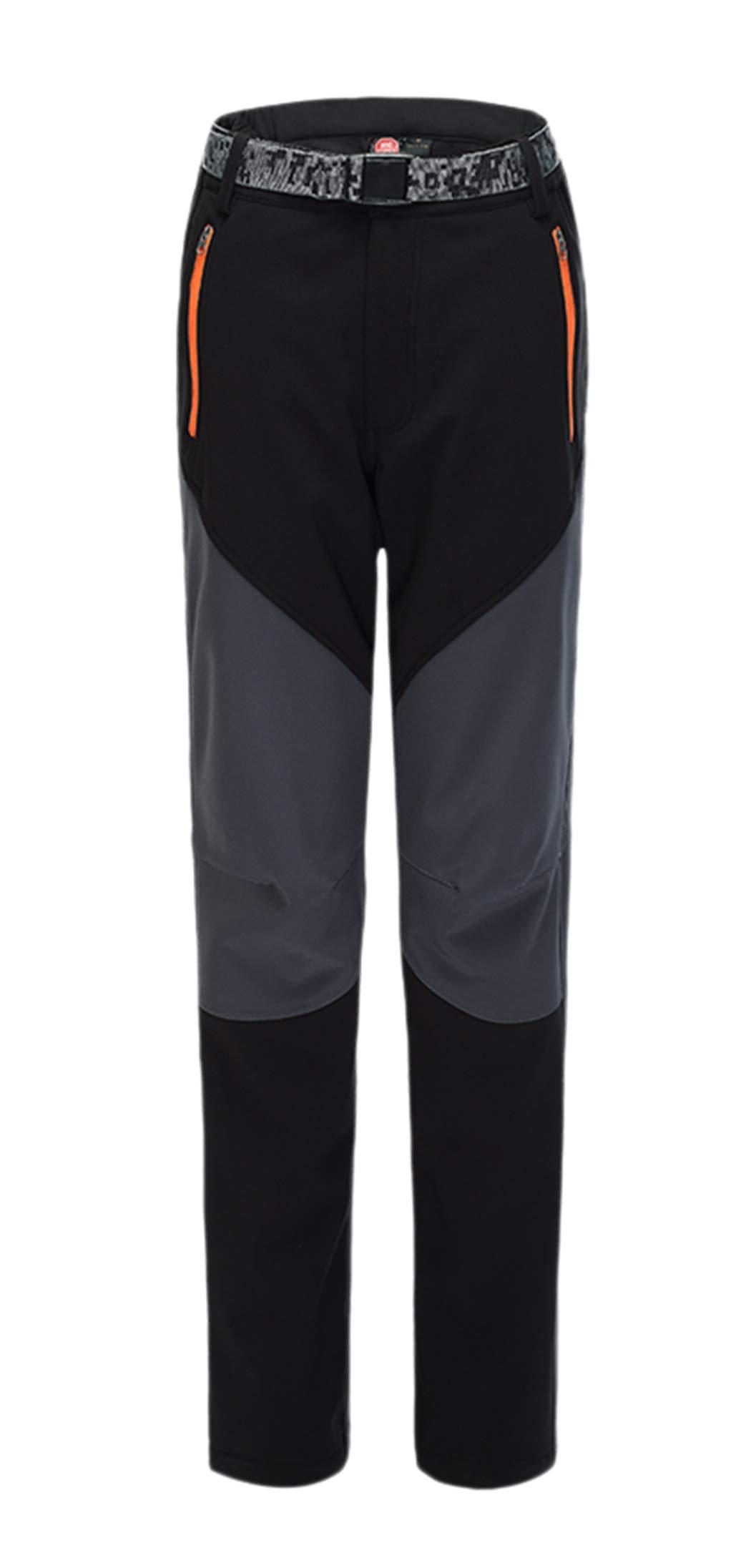 CATERTO Women's Outdoor Windproof Waterproof Softshell Fleece Snow Pants Black S by CATERTO