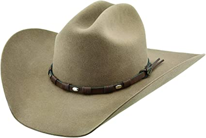 JJF 0842MSTG Fawn Justin 8X Fur Felt Mustang Cowboy Hat
