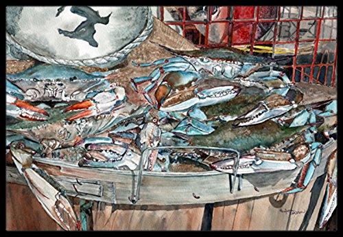 Carolines Treasures 8961MAT Basket Full of Blue Crabs Indoor or Outdoor Mat 18x27 Multicolor Caroline/'s Treasures 8961MAT Basket Full of Blue Crabs Indoor or Outdoor Mat 18x27 18H X 27W