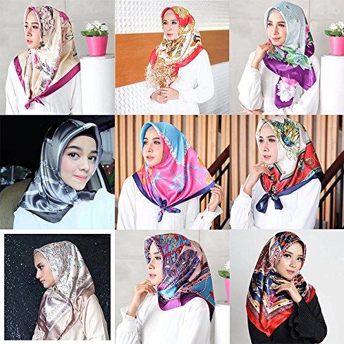 YiyiLai Echarpe Motif Imprimé Femme Imitation de Soie Foulard Carré 90 90cm  Bandana Cheveux Style  A  Amazon.fr  Vêtements et accessoires 40ea59ce398