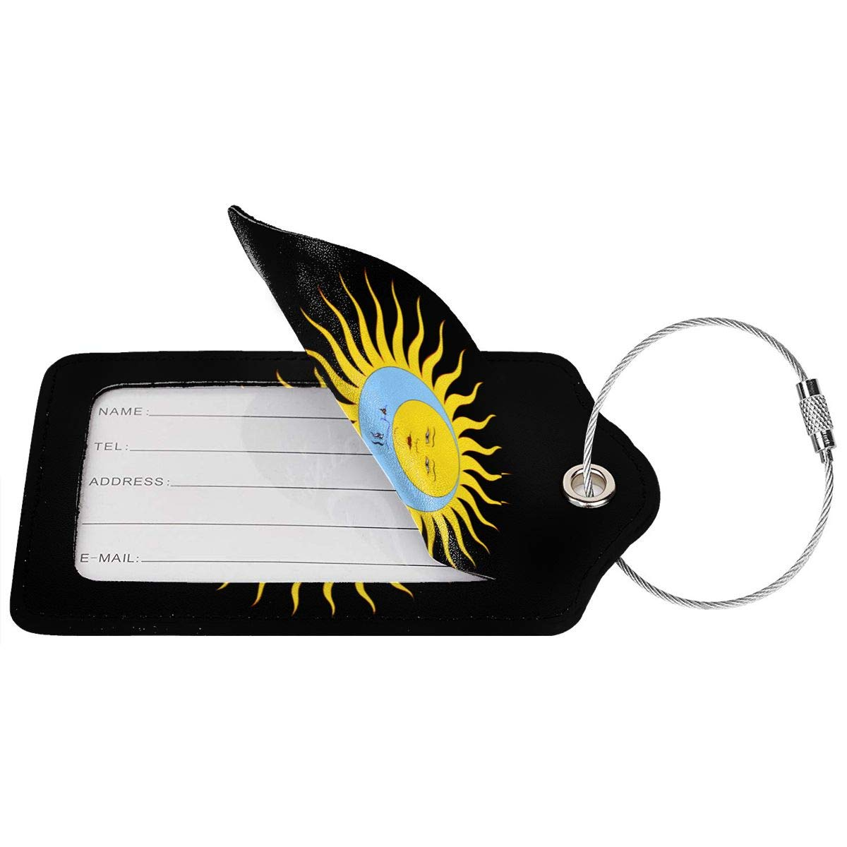 King Crimson Leather Luggage Tag Travel ID Label For Baggage Suitcase
