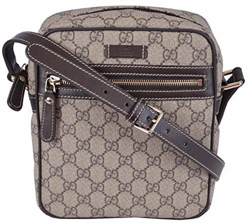 Gucci Mens Messenger (Gucci Men's GG Supreme Coated Canvas Crossbody Messenger Bag (Beige))