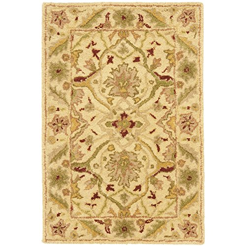 Safavieh Antiquities Collection AT14A Handmade Traditional Oriental Ivory Wool Area Rug (2' x 3') from Safavieh