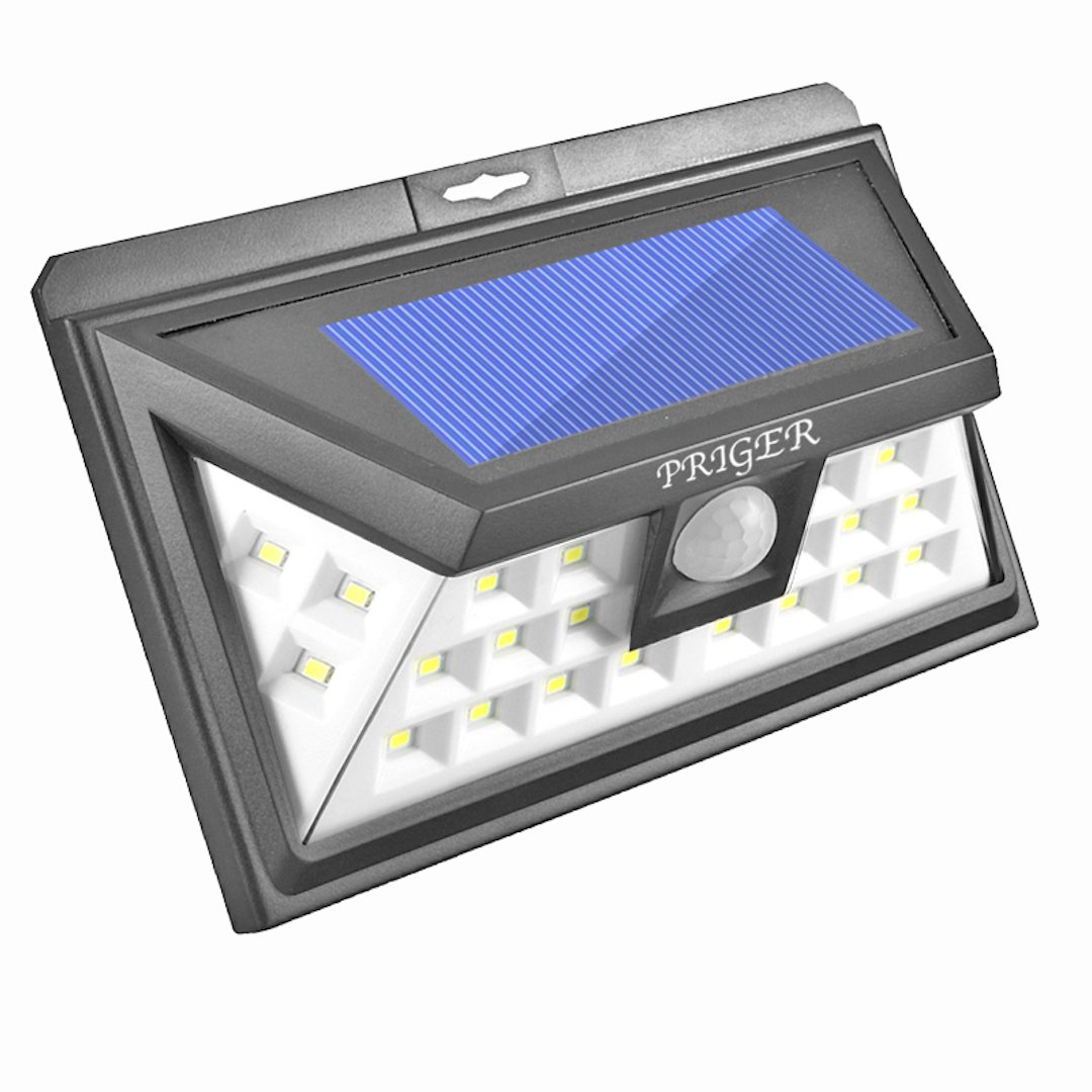 Priger Solar Lights Outdoor Motion Sensor Security Light - Outside LED Flood / Spotlight for Patio, Garden, Deck, Pathway - Waterproof Wireless Solar Powered Yard Lighting / Wall Light Luces Solares