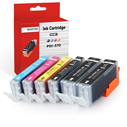 SMARTOMI - 6 cartuchos de tinta PGI-570 XL negro y CLI-571 XL ...