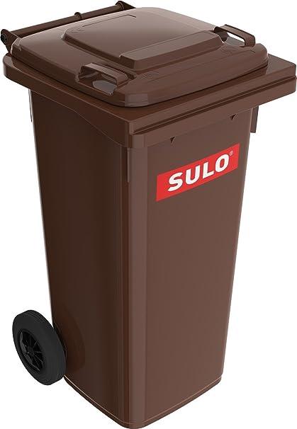 Wilai Sulo – Contenedor de basura con ruedas (120 L marrón