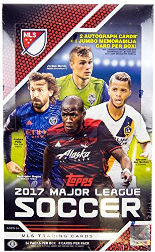 2017 Topps MLS Soccer HOBBY box (incl. ONE Jumbo Relic & TWO Auto cards)