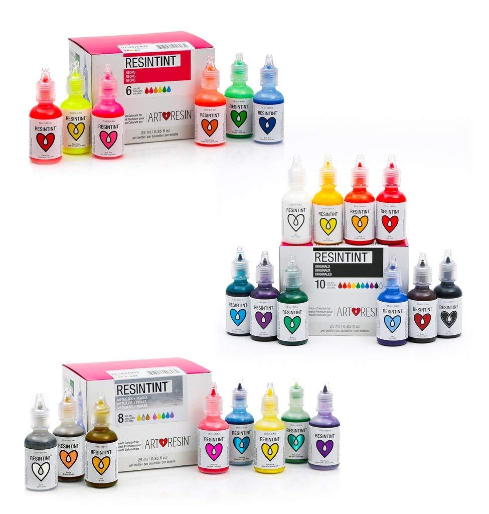 ResinTint - Liquid Pigment - Non-Toxic - Non-Flammable - Complete Set Bundle - 24 Colors