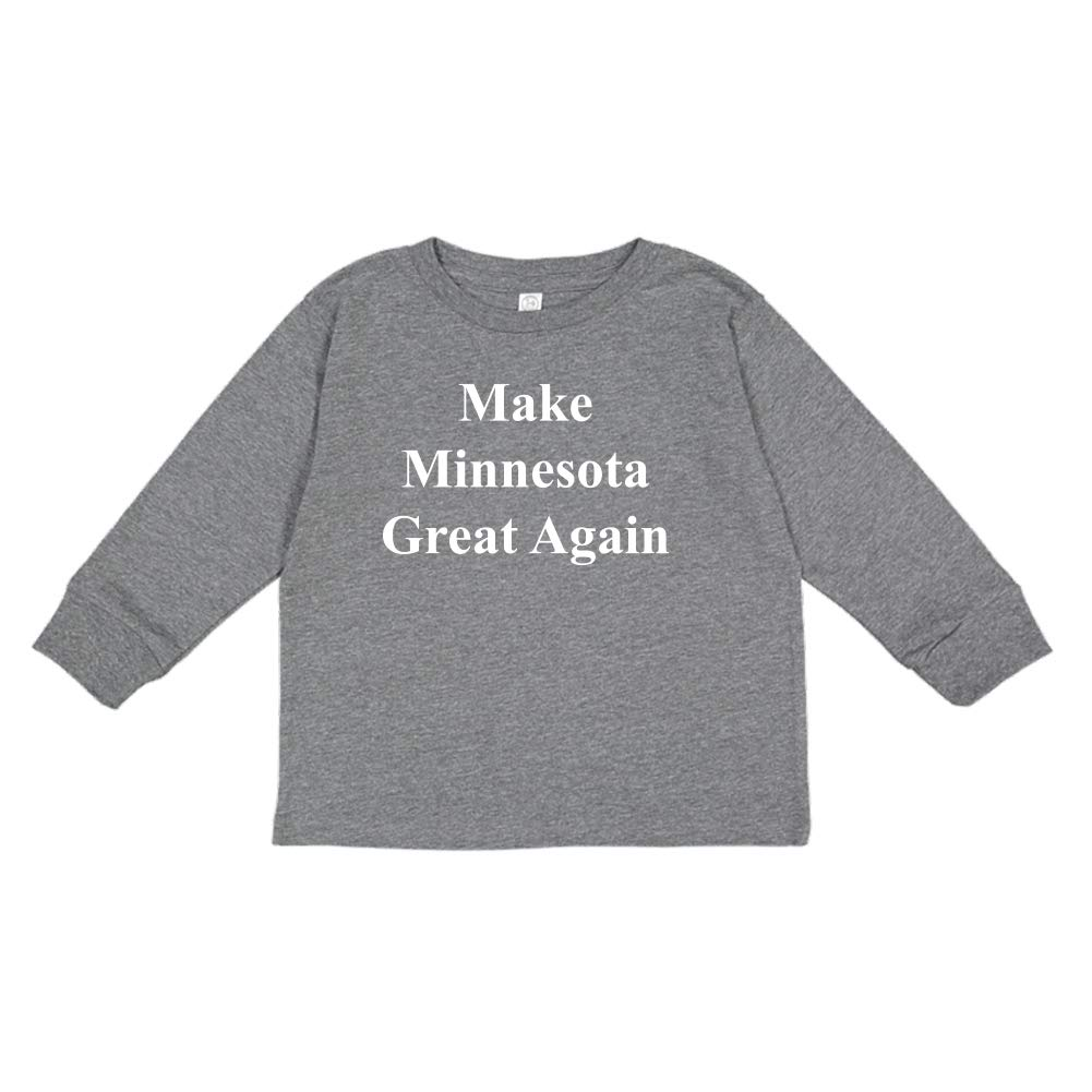 MAGA Trump Republican Toddler//Kids Long Sleeve T-Shirt Mashed Clothing Make Minnesota Great Again