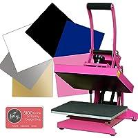 Pink Craft Heat Press Bundle with Siser Easyweed, Warranty & U.S. Support