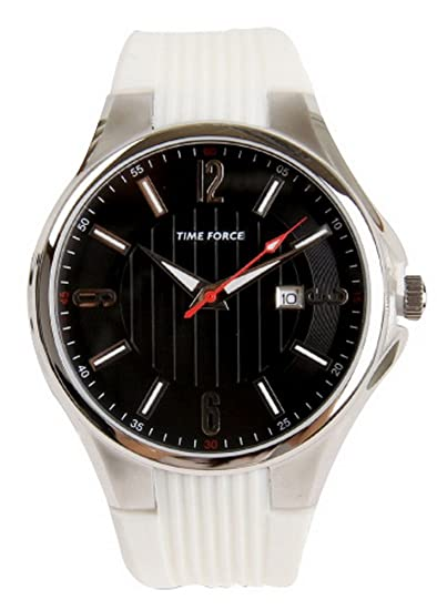 TIME FORCE Reloj Analógico para Hombre de Cuarzo con Correa en Caucho TF4053M11: Amazon.es: Relojes