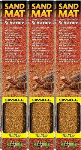 Exo Terra Sand Mat Desert Terrarium Substrate, Small 3ct by Exo Terra